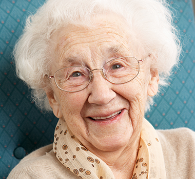 Image of happy elderly woman. Senior Services Delight Older Adults.
